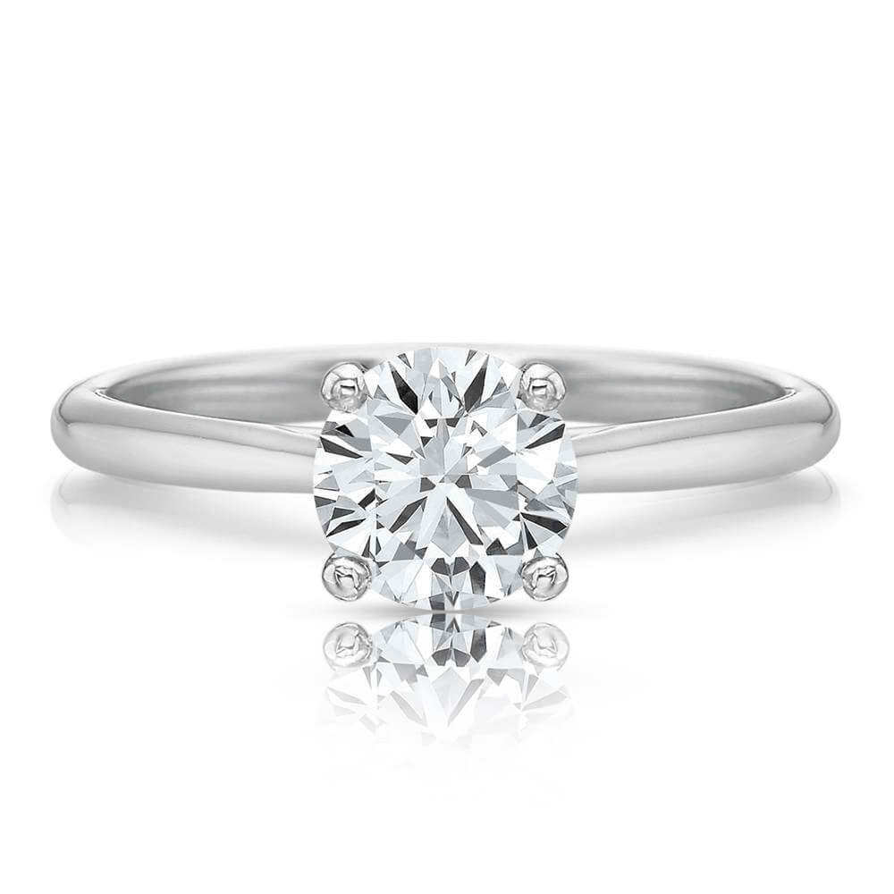 Precision Set 18K White Gold Solitaire Engagement Ring Mounting