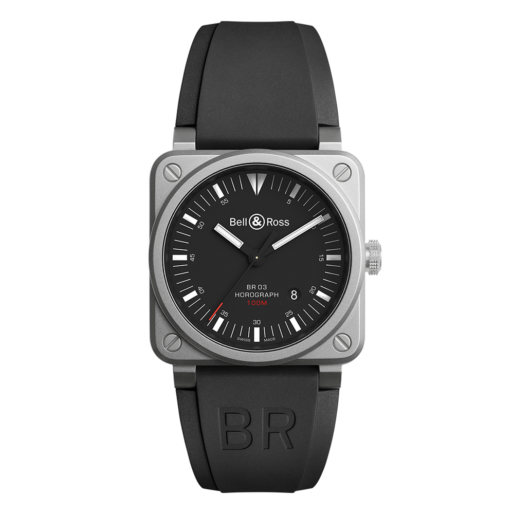 Bell and Ross BR0392-HOR-BLC/SRB