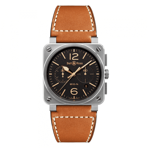 Bell and Ross BR0394-ST-G-HE/SCA